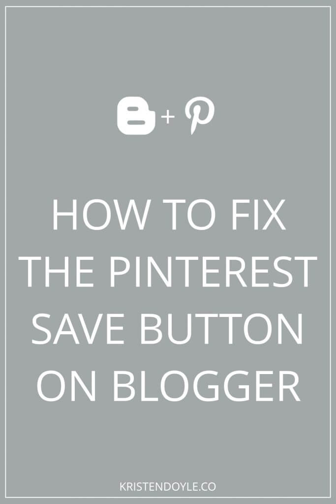 Fix your pinterest save button on blogger