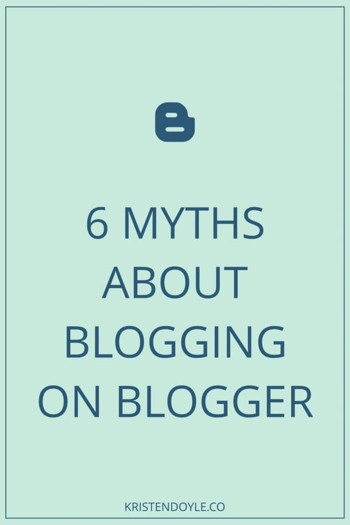 Myths about Blogger