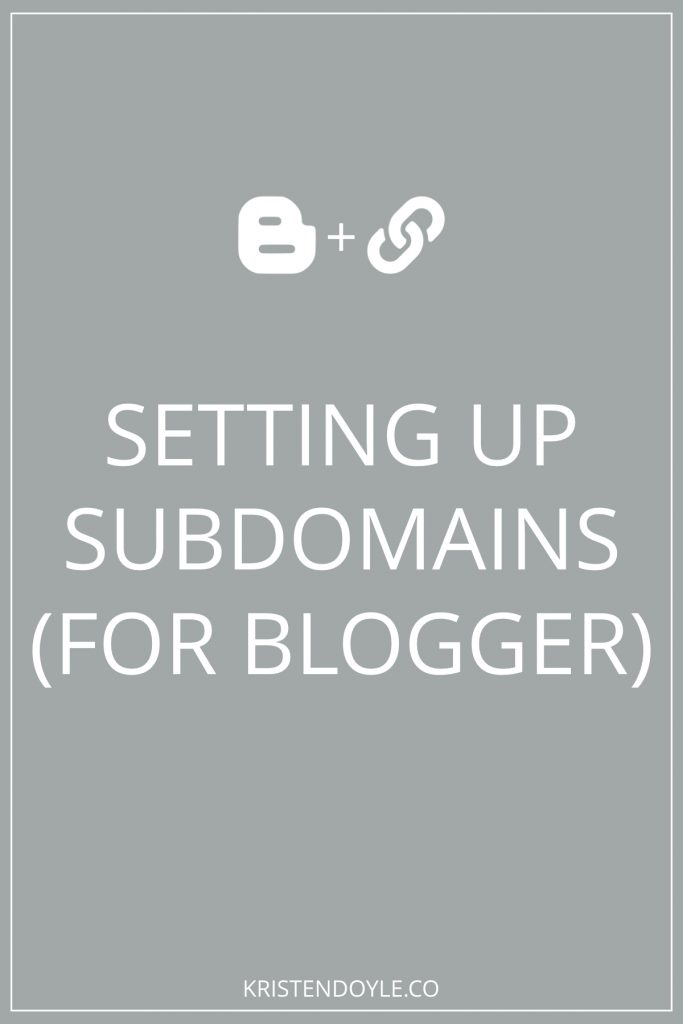 Setting up a Subdomain