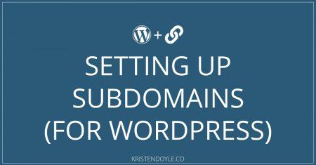 Creating a Subdomain for WordPress
