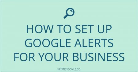 How to set up google alerts